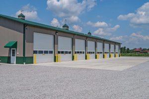 Commercial Garage Door - Insulated Overhead Door with One Fullview Glass Secito